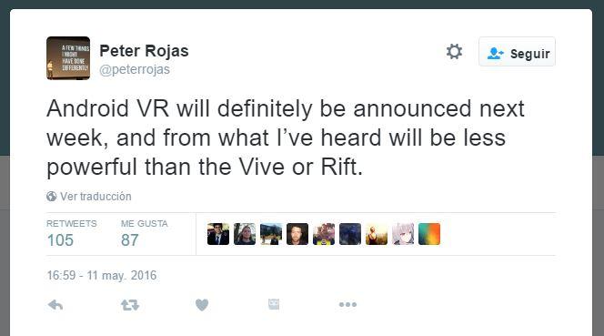 google vr2 - ¿Un nuevo dispositivo de Realidad Virtual de Google?