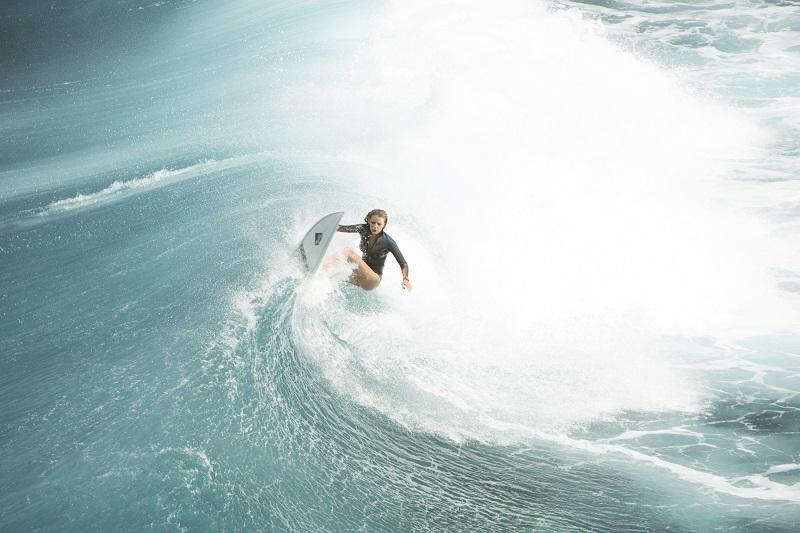 'Infierno azul', surf y tiburones